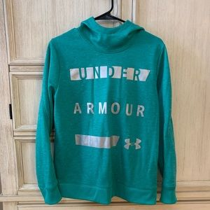 Women's cold gear Teal Under Armour hoodie